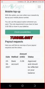 afrisight payment proof