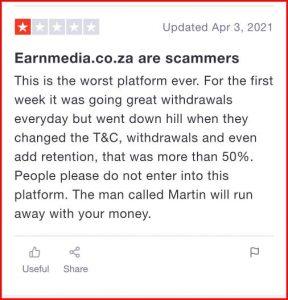 Is Earnmedia.co.za legit or Scam?