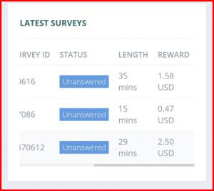 Low earnings My Voice Surveys