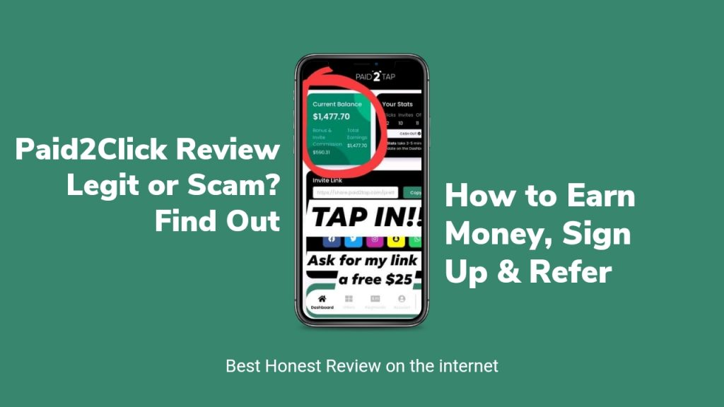 Paid2tap Reviews ( Is Paid2tap Legit or Scam, Sign Up and Login