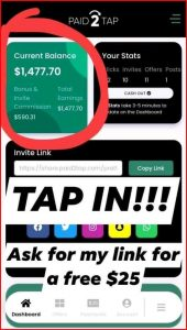 Paid2tap Payment How to Withdraw from Paid2tap
