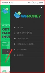 WeMoney.today Sign Up