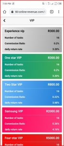 TKL Online Revenue VIP levels