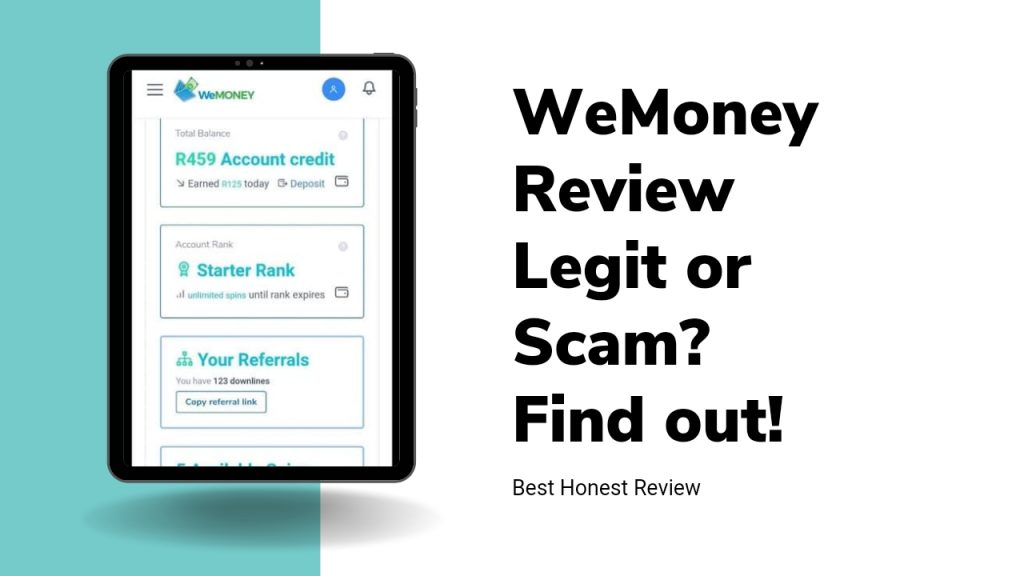 WeMoney.today Reviews ( Is WeMoney Legit or Scam, Sign Up and Login