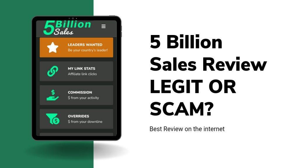5 billion Sales Review ( Is 5 billion sales Legit or Scam, Register & Earn