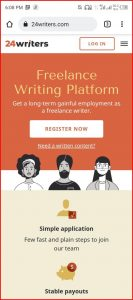 How does 24writers Works | Earn Money from 24writers