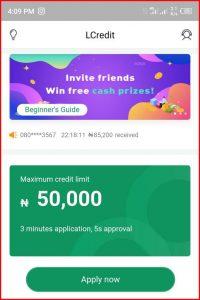 Lcredit Maximum loan Limit