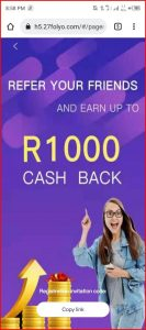 27folyo Referral   How to Refer and earn on 27 folyo