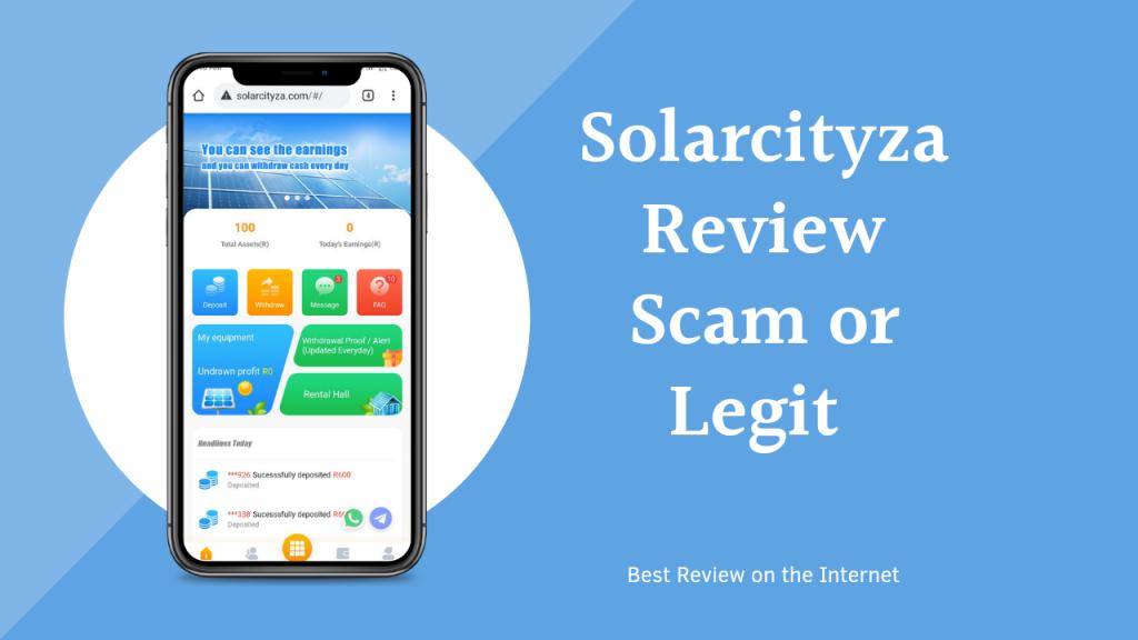 Solarcityza Reviews ( Is Solarcityza Legit or Scam, Earn, Login