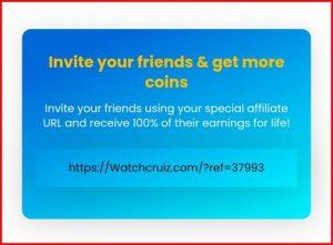 Watchcruiz Referral   How to Refer and earn on Watchcruiz