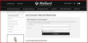 Mallard Jewellers Sign Up   How to Register on Mallard Jewellers
