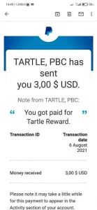 Tartle Payment Proof