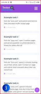Tester.Reviews Tasks